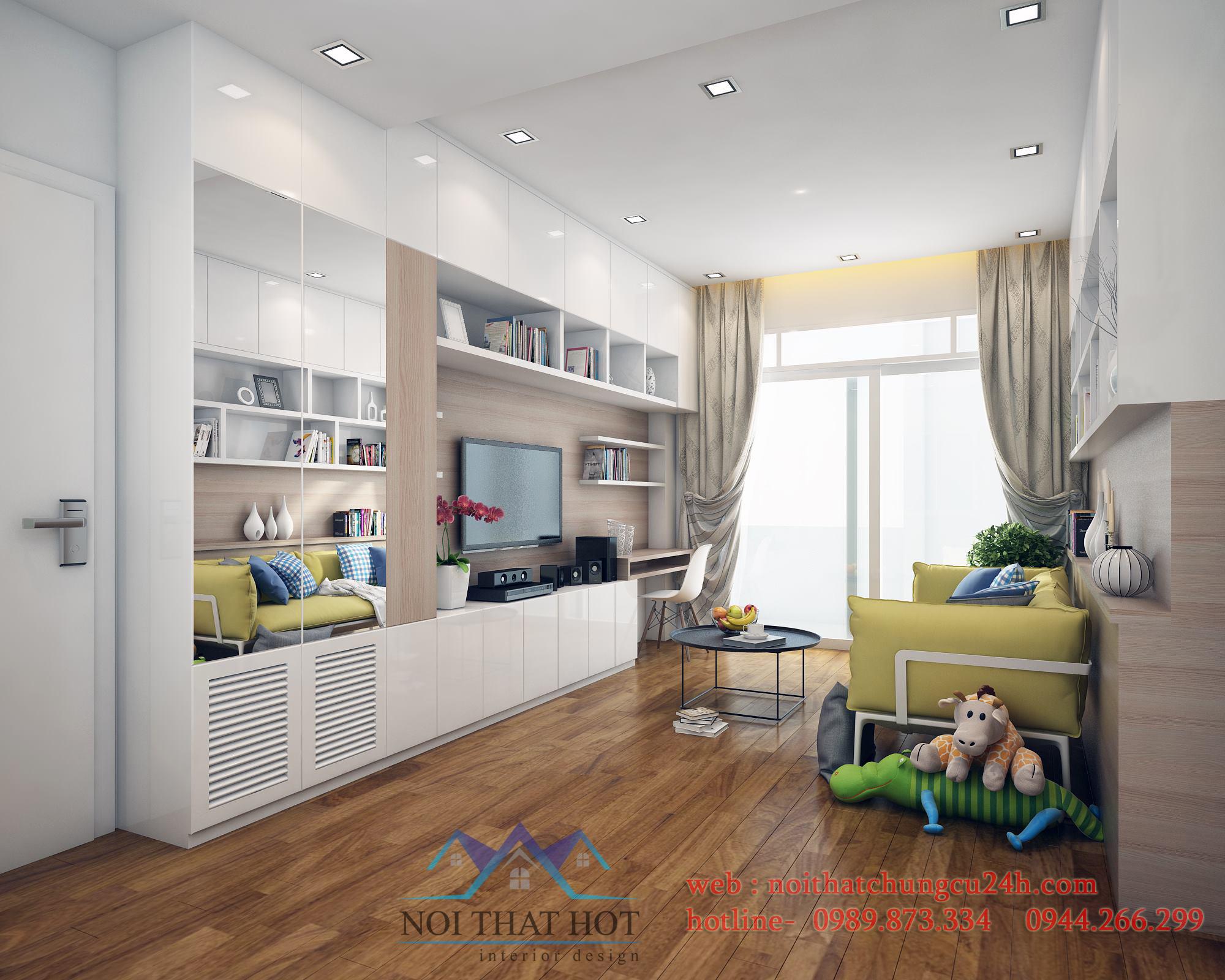 thiết kế nội thất chung cư ấn tượng