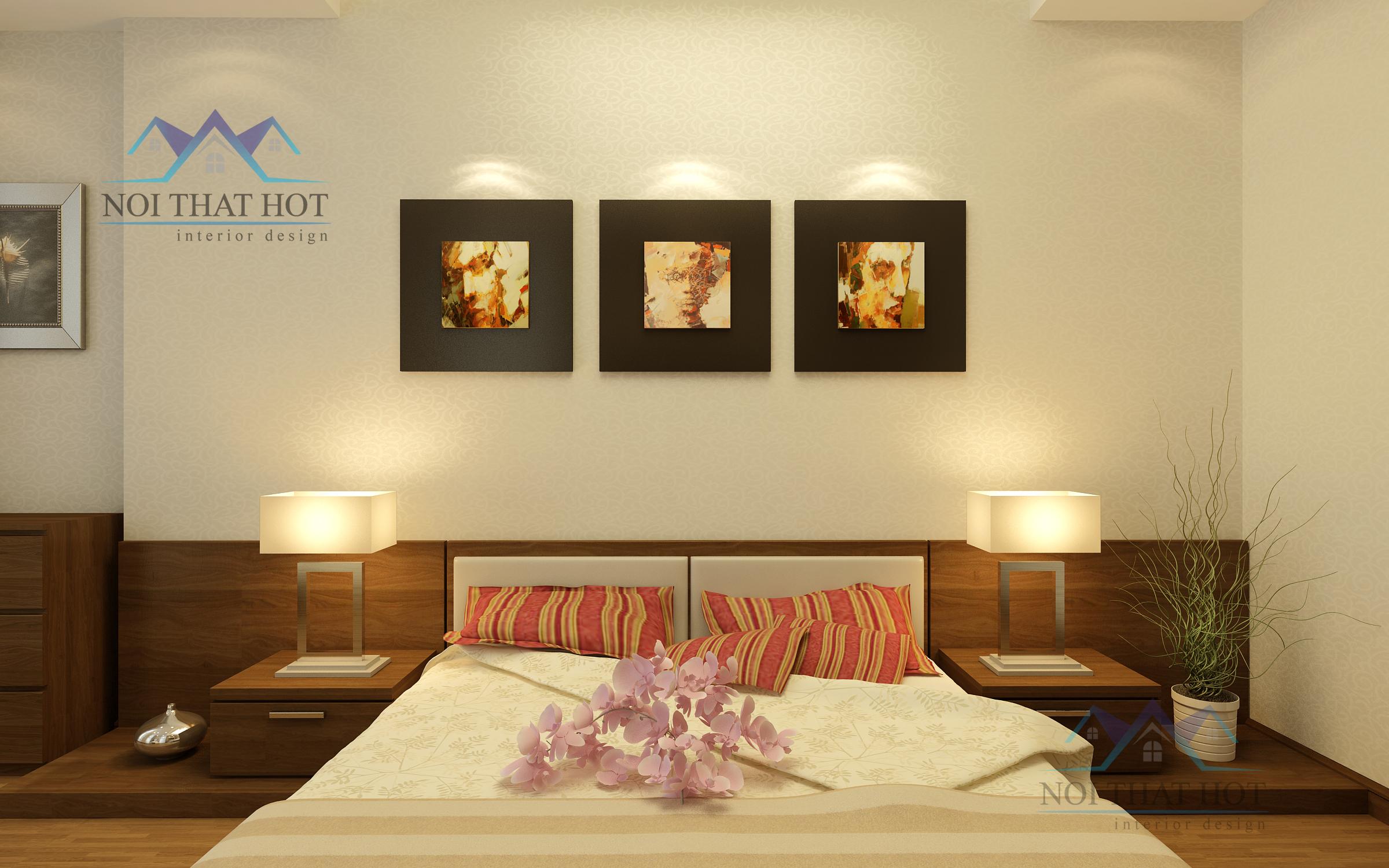 thiết kế phòng ngủ ấm cúng, thiết kế chung cư cao cấp