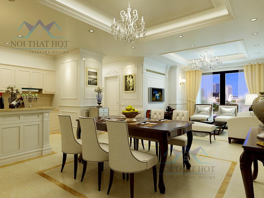 Thiết kế nội thất căn hộ chung cư sang trọng