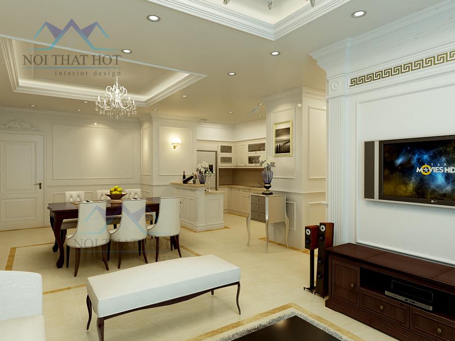 Thiết kế nội thất căn hộ chung cư đẹp hiện đại