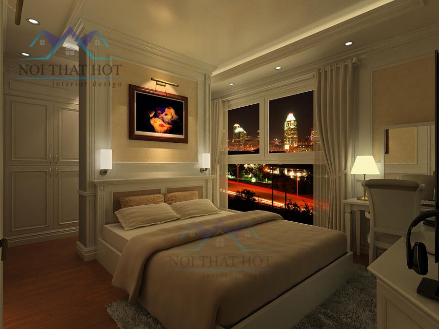 Thiết kế nội thất căn hộ chung cư Royal city với phòng ngủ đẹp