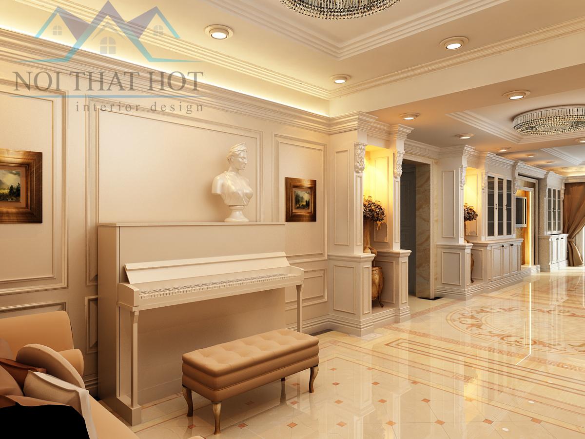 hành lang thiết kế nội thất chung cư