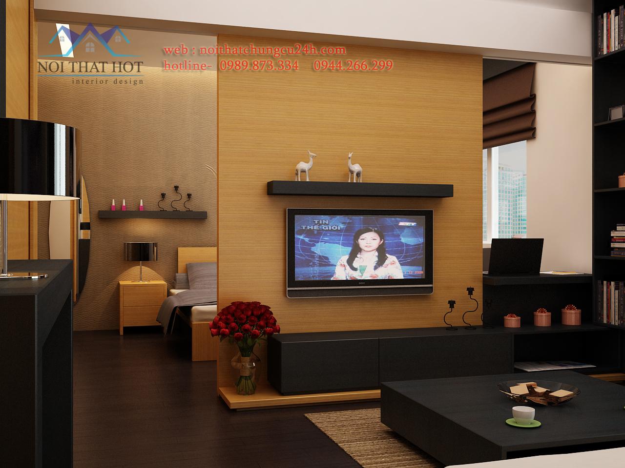 Phòng khách trong thiết kế nội thất chung cư hiện đại