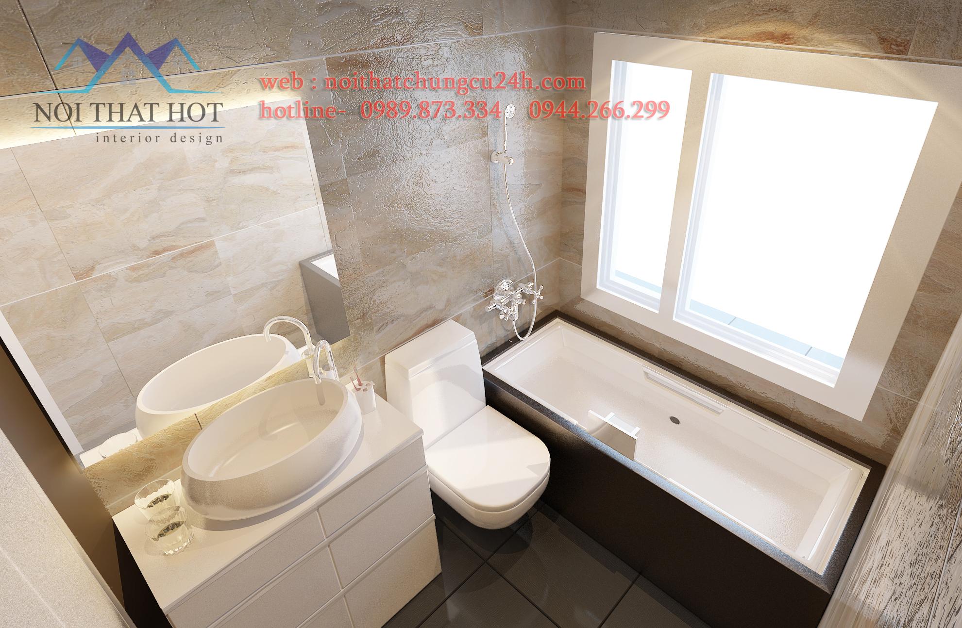 thi công phòng vệ sinh trong thiết kế căn hộ chung cư