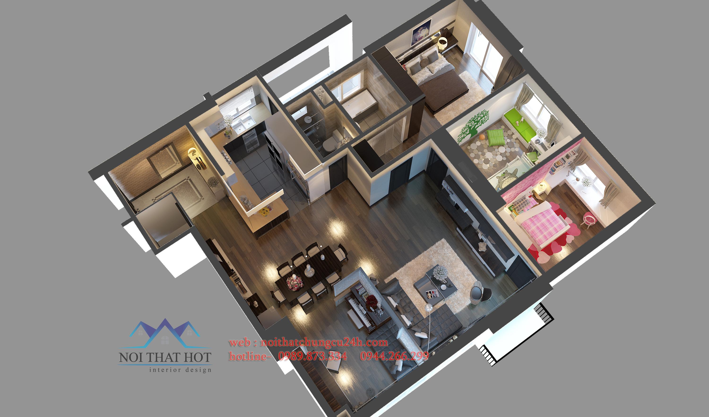 thiết kế căn hộ chung cư theo phong cách hiện đại