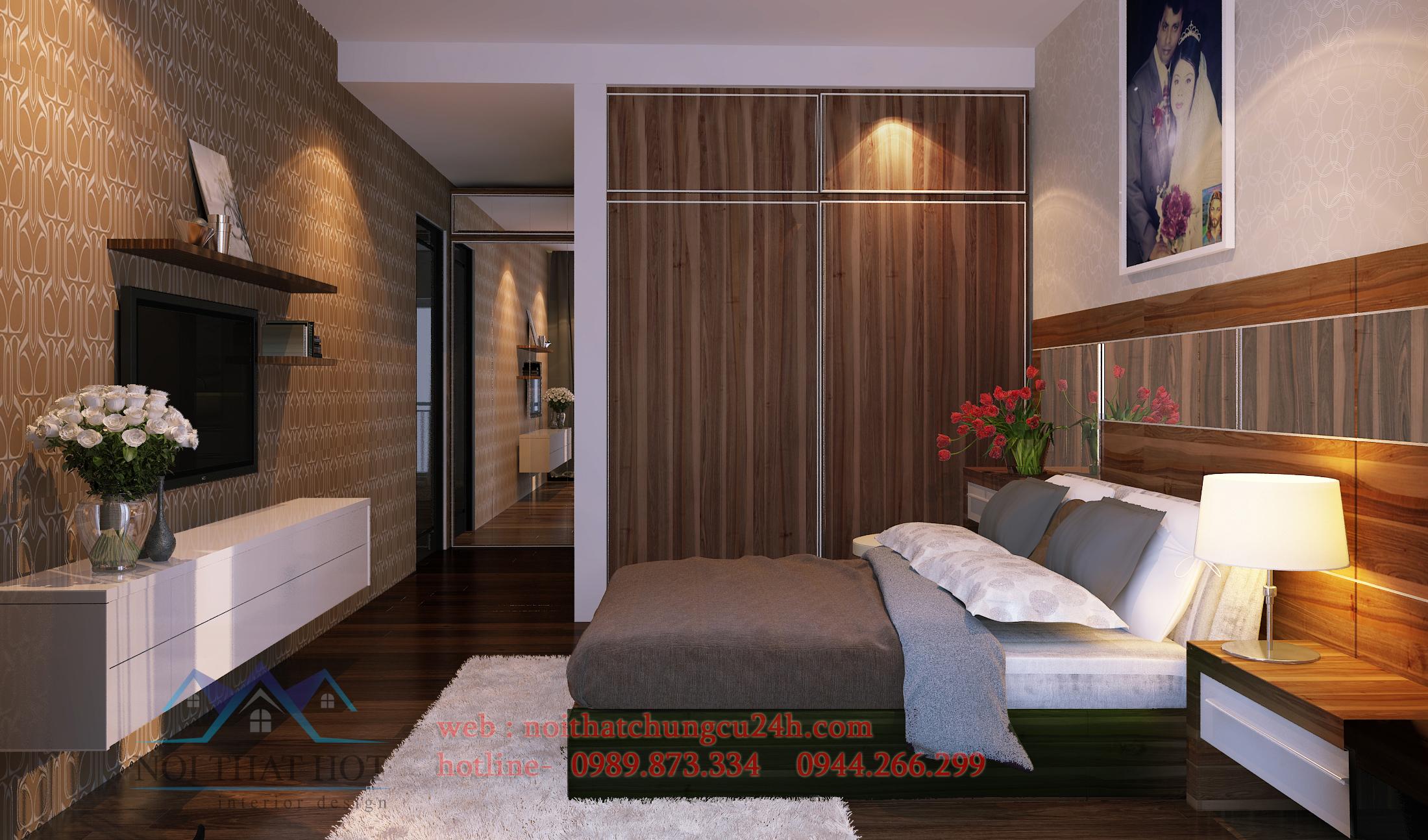 thiết kế nội thất căn hộ chung cư hoàn thiện