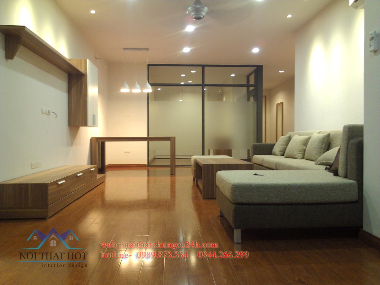 phòng khách trong thiết kế nội thất chung cư