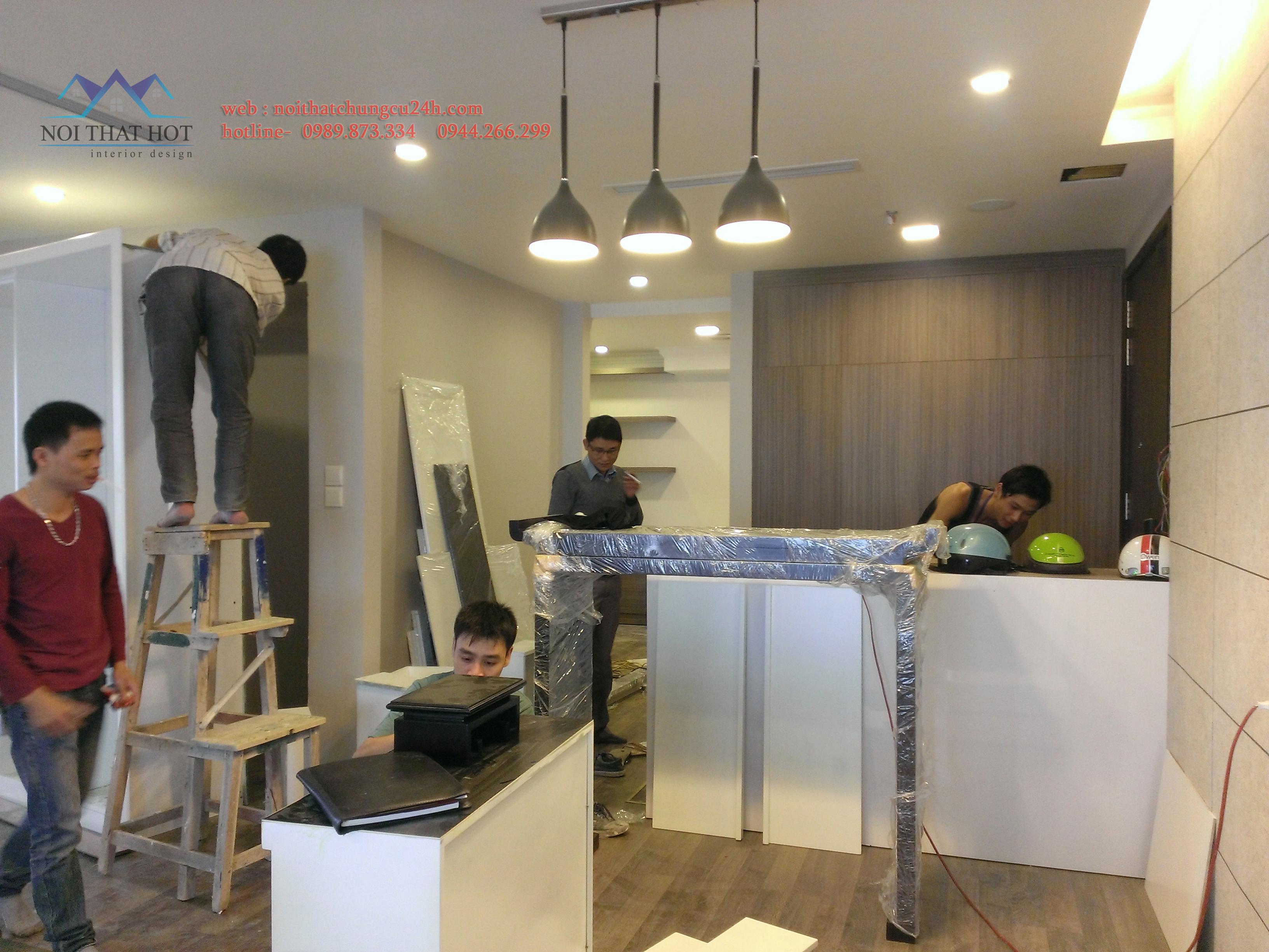 Thi công nội thất chung Hà Nội, thiết kế nội thât chung cư