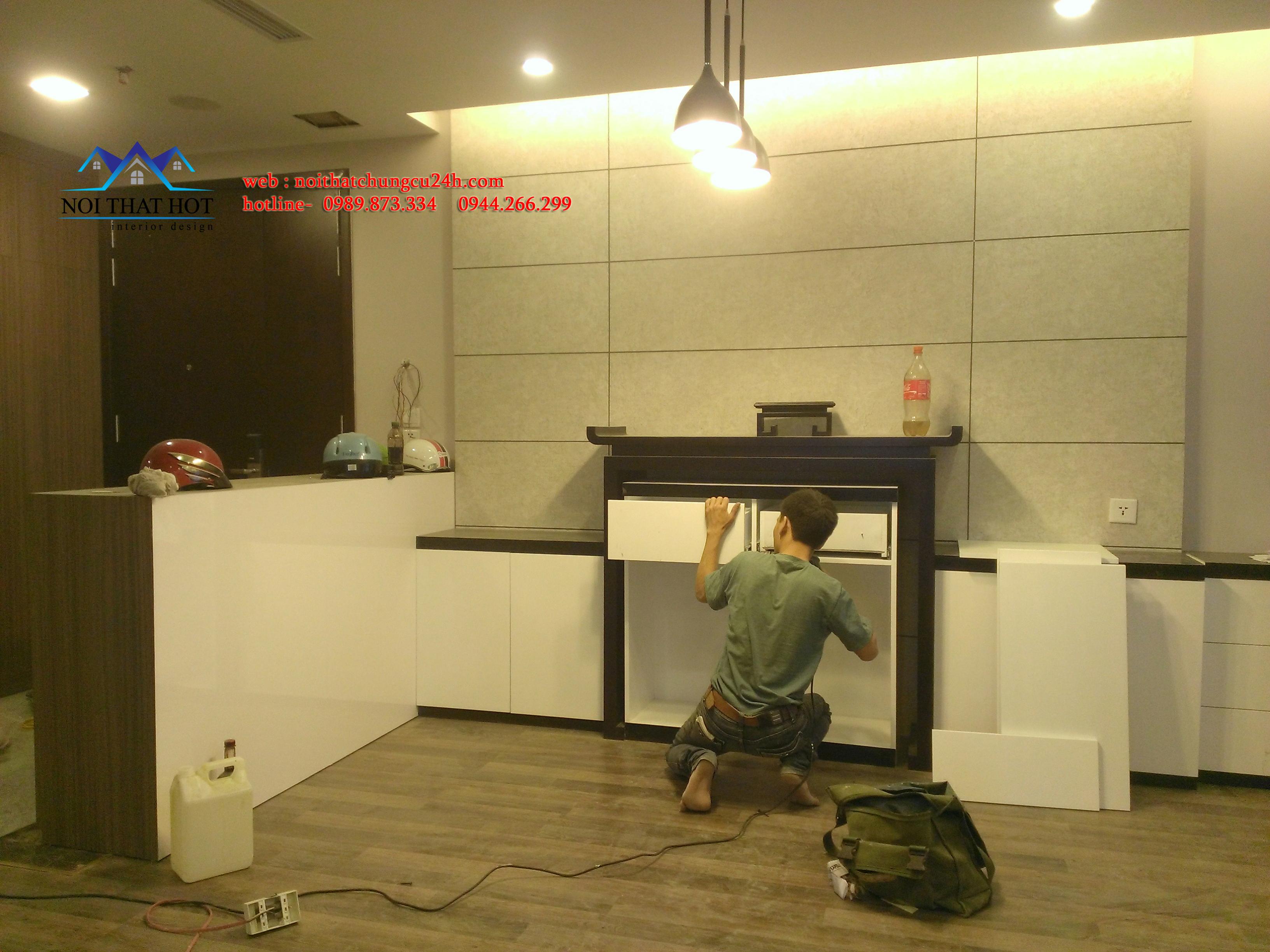 Thi công nội thất chung Hà Nội, thiết kế nội thất chung cư đẹp