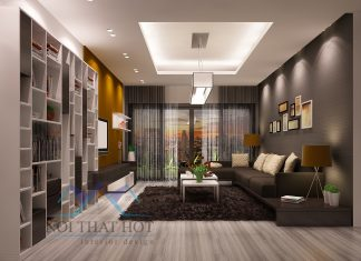 Thiết kế chung cư 2 phòng ngủ