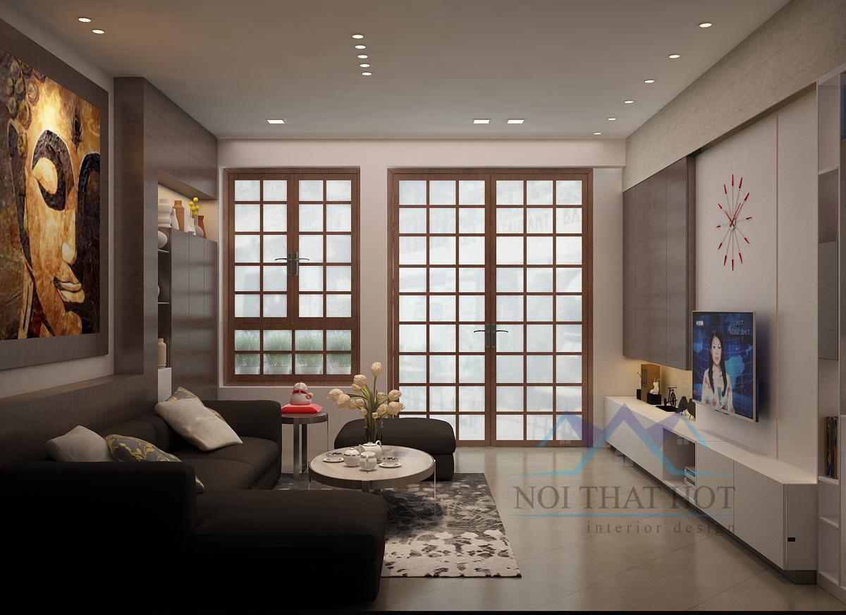 Thiết kế nội thất nhà ở 3 phòng ngủ 135m2