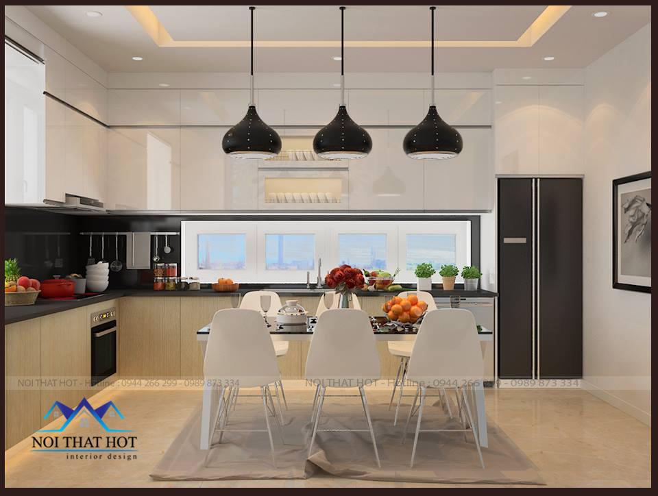 thiết kế căn hộ chung cư 70m2, thiết kế phòng bếp