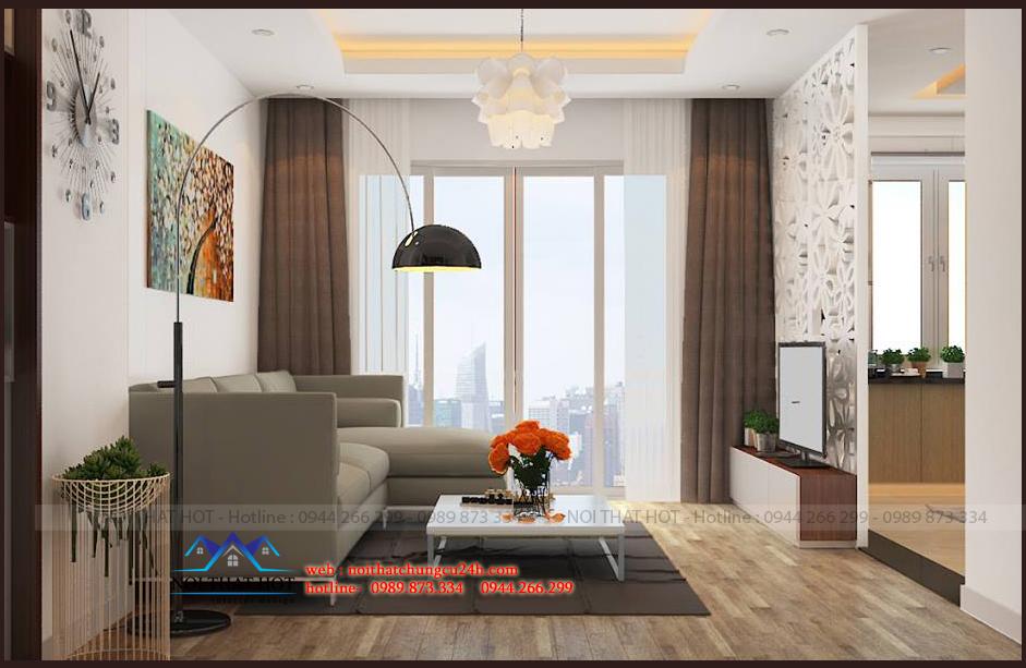 thiết kế căn hộ chung cư 70m2 - thiết kế chung cư 70m2